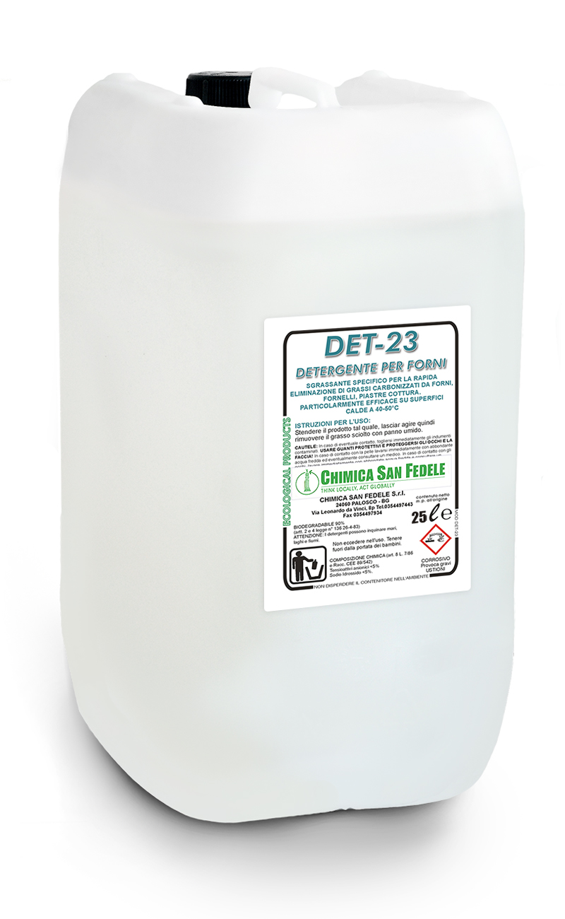 DET 23 Detergente Per Forni Residui Cottura
